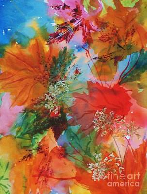 Painting - Dancing Leaves And Lace by Ellen Levinson