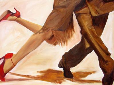 Painting - Dancing Legs IIi by Sheri  Chakamian