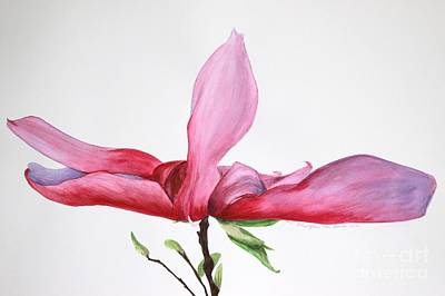 Painting - Dancing Magnolia Series 2 by Kyong Burke
