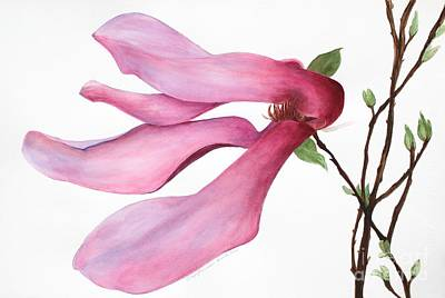 Painting - Dancing Magnolia Series 3 by Kyong Burke