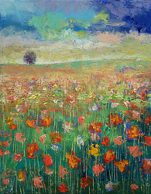 Field. Cloud Painting - Dancing by Michael Creese