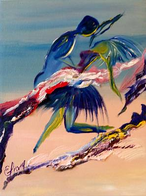 Dancing On The Beach Painting - Dancing On The Beach by Eliane Ellie