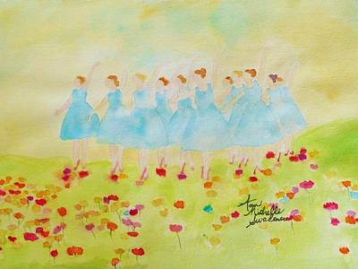 Dancing On Top Of The Flowers Art Print by Ann Michelle Swadener