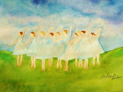 Dancing On Top Of The Grass Art Print