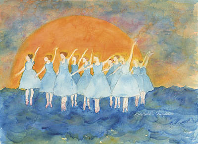 Dancing On Top Of The Sea Art Print