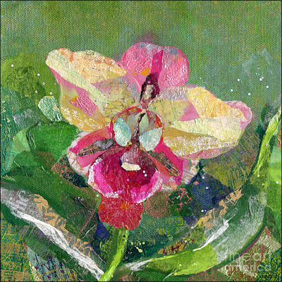 Orchid Wall Art - Painting - Dancing Orchid I by Shadia Derbyshire