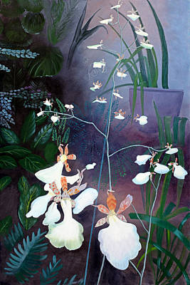 Ruben Carrillo Wall Art - Painting - Dancing Orchids by Ruben Carrillo