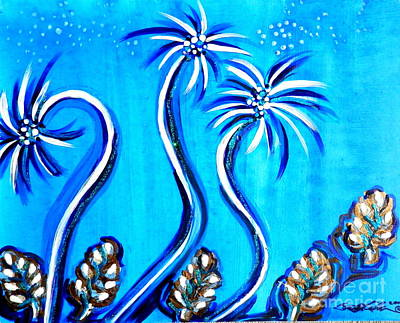 Painting - Dancing Palms by L Cecka