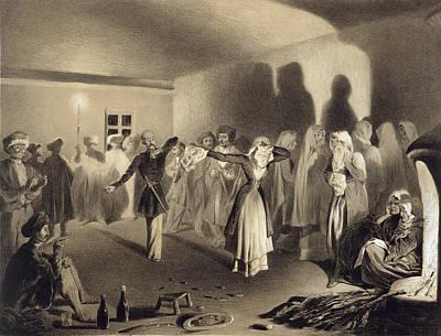 Dancing Party At Kagha-choura Art Print by Grigori Grigorevich Gagarin
