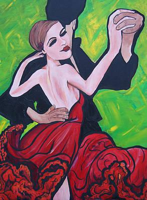 Dancing Passion Art Print by Lorinda Fore