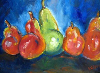 Dancing Pears Art Print by Stephanie Allison