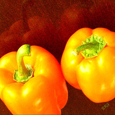Photograph - Dancing Peppers by Ben and Raisa Gertsberg
