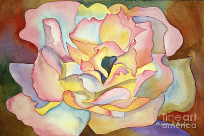 Painting - Dancing Petals by Shirin Shahram Badie