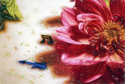 Digital Art - Dancing Petals by Terry Cork