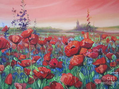 Painting - Dancing Poppies by Andrei Attila Mezei