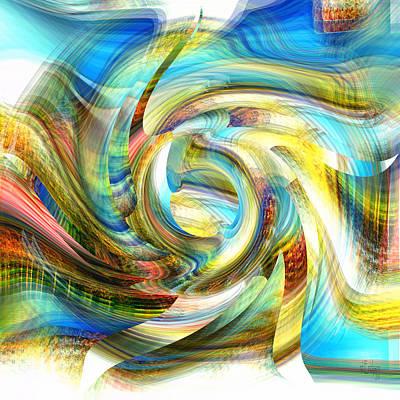 Digital Art - Dancing Rainbow - The Beauty by rd Erickson