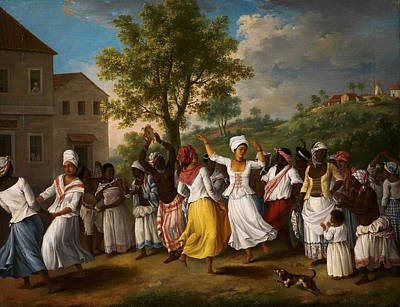 West Indies Painting - Dancing Scene In The West Indies by Celestial Images