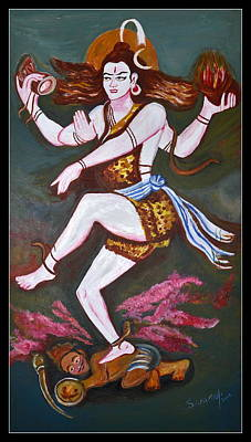 Painting - Dancing Siva  by Anand Swaroop Manchiraju