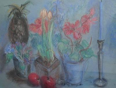Dancing Still Life In Pastel Art Print by Patricia Kimsey Bollinger