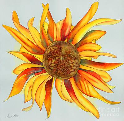 Dancing Sunflower Art Print by Shannan Peters