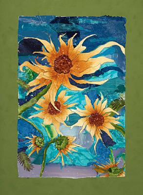 Mixed Media - Dancing Sunflowers by Carmen Williams