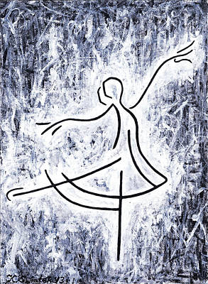 Ballet Dancers On The Stage Painting - Dancing Swan by Kamil Swiatek