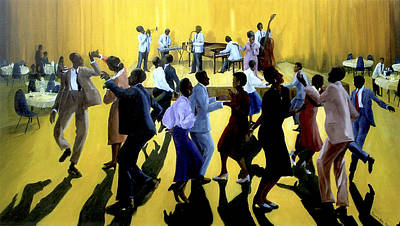 Lindy Painting - Dancing The Lindy  by Kenneth Karl