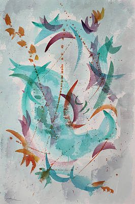 Dancing The New Year In Art Print by Asha Carolyn Young