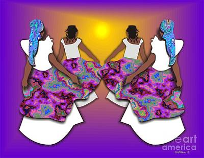 Wrap Digital Art - Dancing To The Sun by Walter Oliver Neal