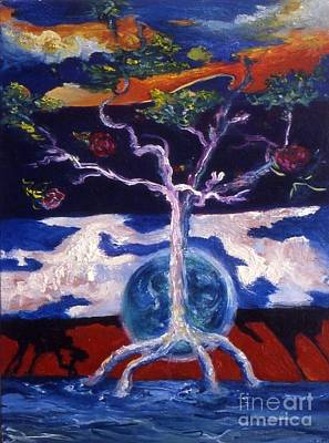 Painting - Dancing Trees by Myra Maslowsky