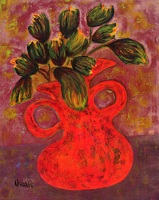 Painting - Dancing Vase  by Oscar Penalber
