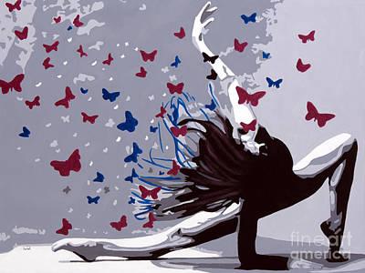 Dancing With Butterflies Original by Denise Deiloh