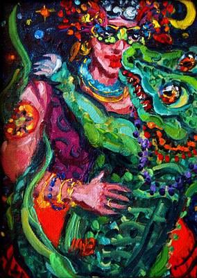Louisiana Alligator Painting - Dancing With Clovis by Melissa Sarat