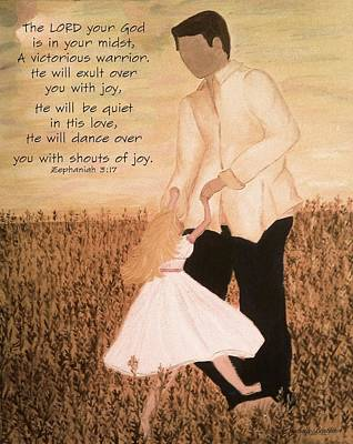 Painting - Dancing With Daddy by Michelle Bentham