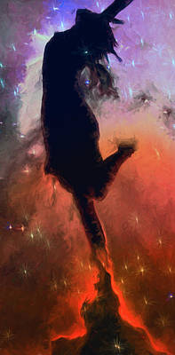 Outer Space Mixed Media - Dancing With The Stars by John Haldane