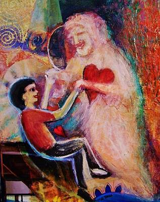 Betrothed Painting - Dancing Witht The Holy Spirit by Dana Vacca