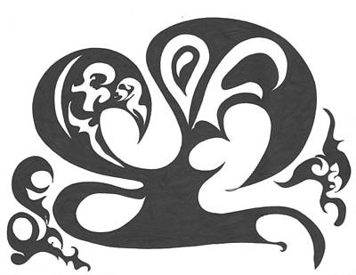 Hip Drawing - Dancing Wu Tang Masters by Delfina Alden