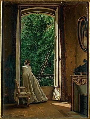 Dancona Vito, Window Overlooking Art Print by Everett