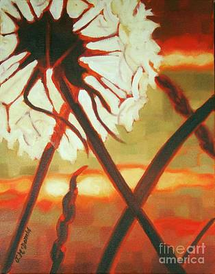 Painting - Dandelion At Last Light by Janet McDonald
