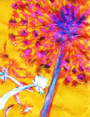 Abstract Painting - Dandelion by C Fanous