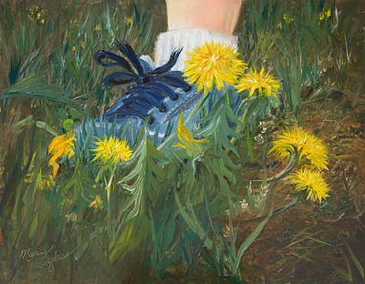 Painting - Dandelion Dance by Mary Wykes
