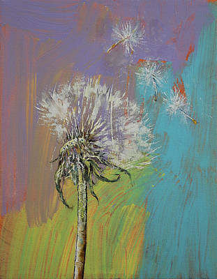 Blumen Painting - Dandelion by Michael Creese