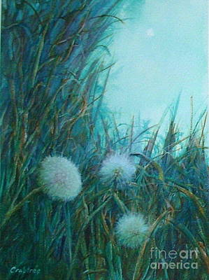 Painting - Dandelion Puffs by Elizabeth Crabtree