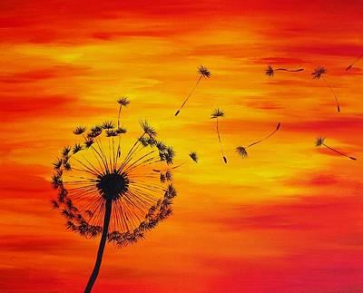 Dandelion Sunset 8x10 Art Print by Michelle Eshleman