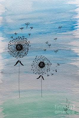 Floral Painting - Dandelion Wind by Gail Nandlal