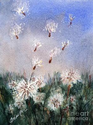 Painting - Dandelioniii by Suzanne Krueger