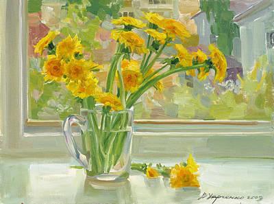 Dandelion Painting - Dandelions by Victoria Kharchenko
