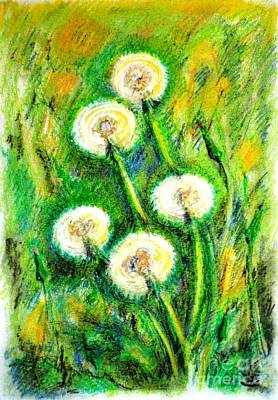 Most Popular Painting - Dandelions by Zaira Dzhaubaeva