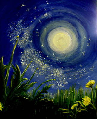 Silver Moonlight Painting - Dandy  Magic by Tammy Rogers