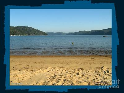Photograph - Dangar Island Beach - With Border by Leanne Seymour